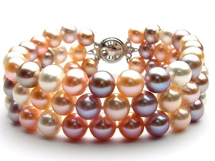 браслет, натуральный, жемчуг, купить, украшение